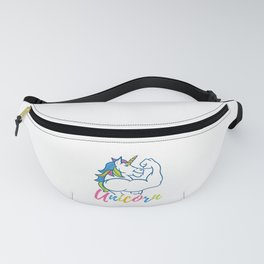 Unicorn Daddy - Funny Fitness Gym Rainbow Dad Gift Fanny Pack
