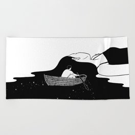 Rowing to you Beach Towel