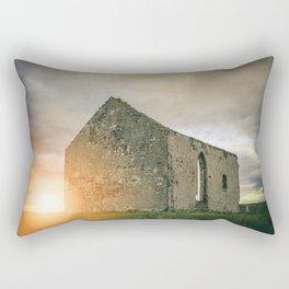 Church Ruins at Sunset Rectangular Pillow