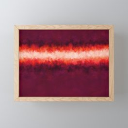 Plum, Passion and Love Abstract Framed Mini Art Print