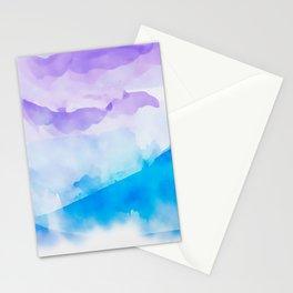 Turquoise Batik Mountains Stationery Cards