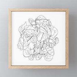 PLANT PORTRAITS - DEVIL'S IVY EPIPREMNUM AUREUM - COOPER  AND COLLEEN Framed Mini Art Print