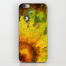 van Gogh styled sunflowers version 3 iPhone & iPod Skin