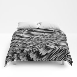 Black and White Abstract Fractal Comforters