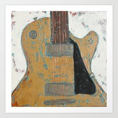 Les Paul Guitar Art Print