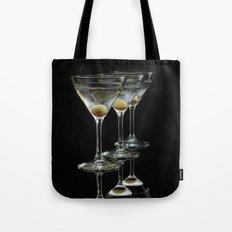 Three Martini's and three olives.  Tote Bag