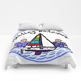 Beard Boy: Sailing Bohemia Comforters