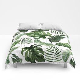 Tropical Leaf Comforters
