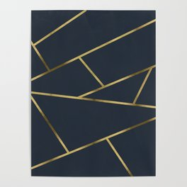 Copper and Midnight Navy #society6 #decor #buyart #artprint Poster