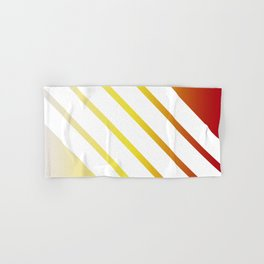 White Stripes on Red Yellow Gradient Hand & Bath Towel