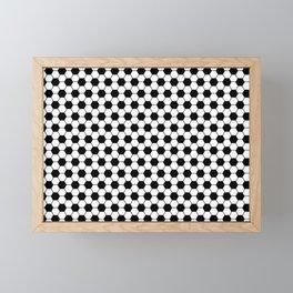 Ball pattern - Football Soccer black and white pattern Framed Mini Art Print