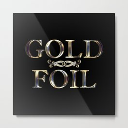 Sculpted Gold Foil Metal Print