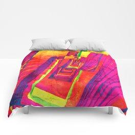 Pop Art Stairwell Abstract Comforters