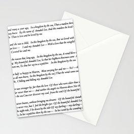 Annabel Lee Edgar Allan Poe Classic Poem Stationery Cards