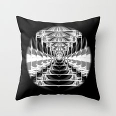Black+White Abstract.Modern. Throw Pillow