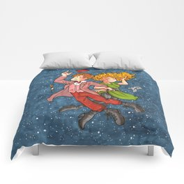 Doctor and River in Space Comforters