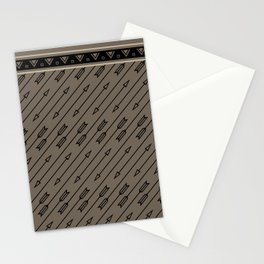 Arrows Flying (Gray Black) Stationery Cards