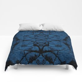 Blue cracked wall pattern Comforters