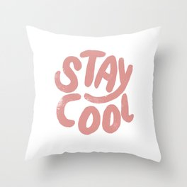 Stay Cool Vintage Pink Throw Pillow