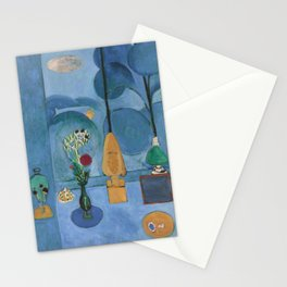 The Blue Window, Issy-les-Moulineaux, 1913 by Henri Matisse, Artwork Design, Poster Tshirt, Tee, Jer Stationery Cards