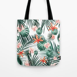 Tropical Flowers & Leaves Paradise #2 #tropical #decor #art #society6 Tote Bag