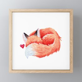 Sleeping Fox Framed Mini Art Print