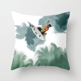 SUN SURF LIFE Throw Pillow