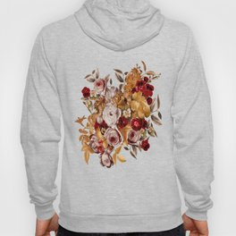 Watercolor Floral Pattern Hoody