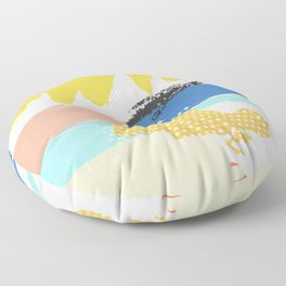 mininal century brush painted VIl Floor Pillow