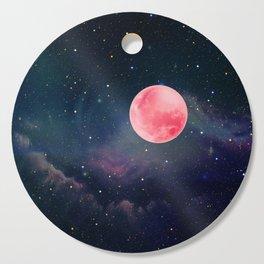 Pink Moon Cutting Board
