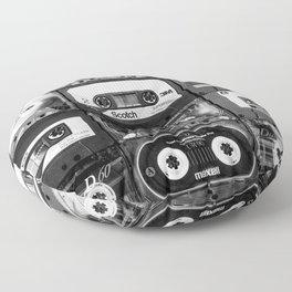 Something Nostalgic - black and white #decor #buyart #society6 Floor Pillow