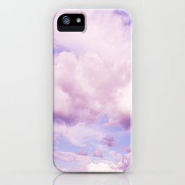 Pink Clouds In The Blue Sky #decor #society6 #buyart iPhone Case