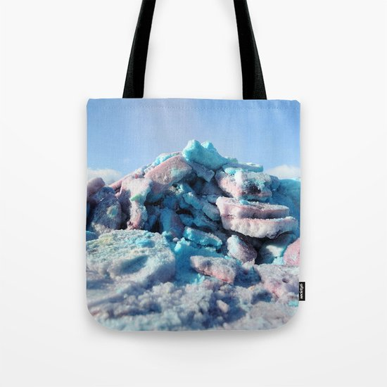 Having Fun in the Winter - Colored Snow #1 #art #society6 Tote Bag