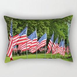 Flags Flying in Memoriam II Rectangular Pillow
