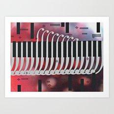 symphony for piano Art Print