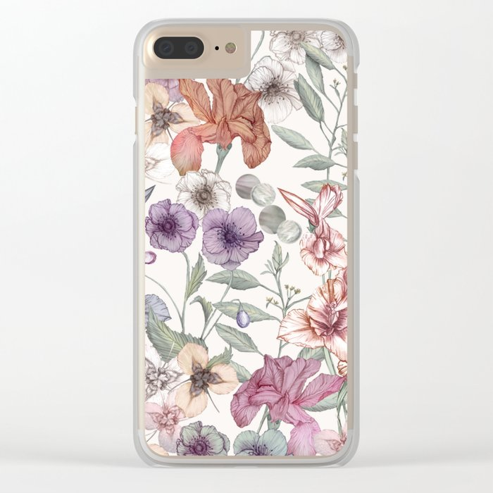 Magical Floral  Clear iPhone Case