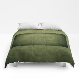 Green vintage scratched cloth texture Comforters