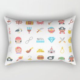 CUTE PIRATES PATTERN (PIRATE SHIP CHARACTERS) Rectangular Pillow