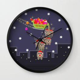 Sleigh Ride Wall Clock