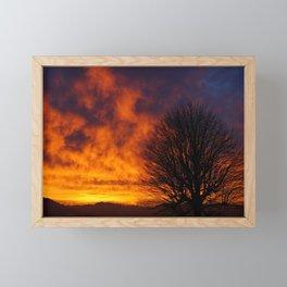 Winter Sunset 2 Framed Mini Art Print