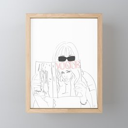 Voguestagram Anna Wintour Framed Mini Art Print