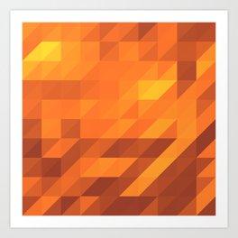 Polygon Six Art Print