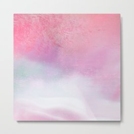 Summer Sunset Ocean Mist Minimalism Blush Metal Print