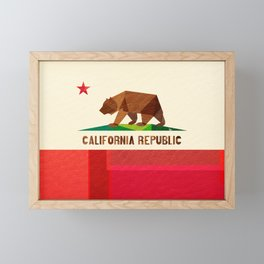 California 2 (rectangular version) Framed Mini Art Print