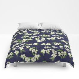 April blooms(Dogwoods_blue) Comforters
