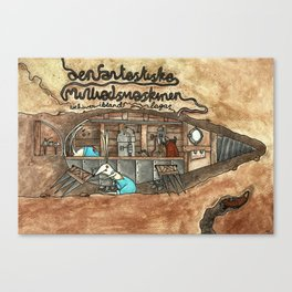 The fantastic mole-machine Canvas Print