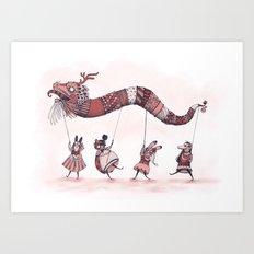 Dragon Parade  Art Print