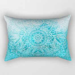 Fade to Teal - watercolor + doodle Rectangular Pillow