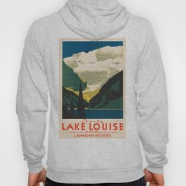 Lovely Lake Louise vintage travel ad Hoody