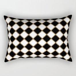 Geometric ornament gold seamless pattern Rectangular Pillow